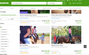 Talk parents into riding horses with Groupon deal for riding lessons
