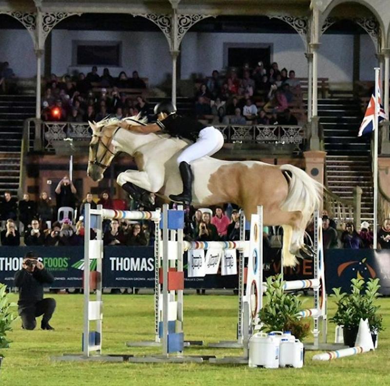 Alycia Burton jumping Goldrush